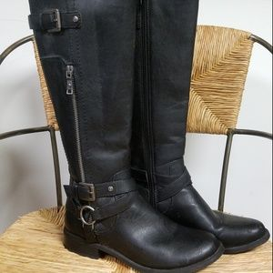 G GUESS Herly Equestrian Riding Moto Tall Boots